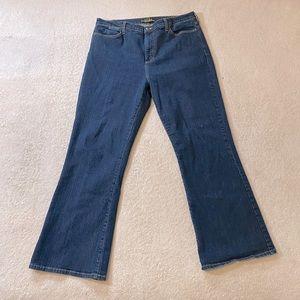 NYDJ Dark Wash Tummy Tuck Bootcut Jeans 18W